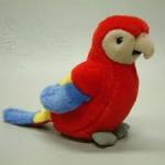 Papagaai te huur pluche